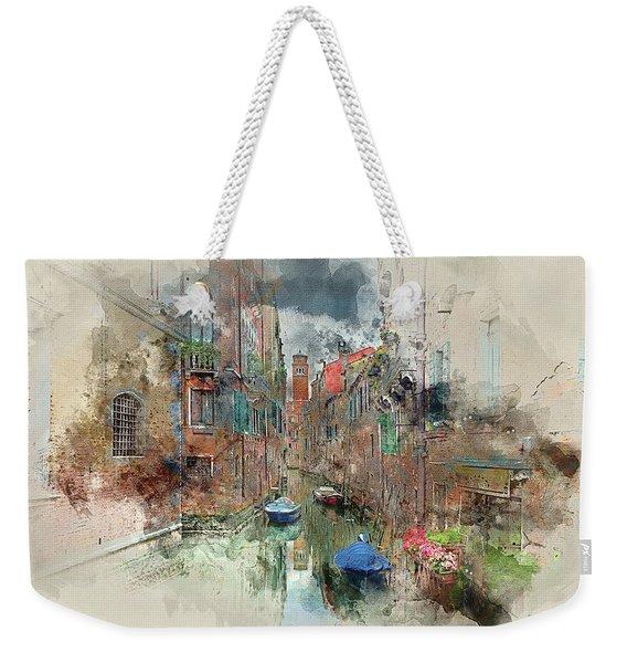 Quiet Morning In Venice Weekender Tote Bag