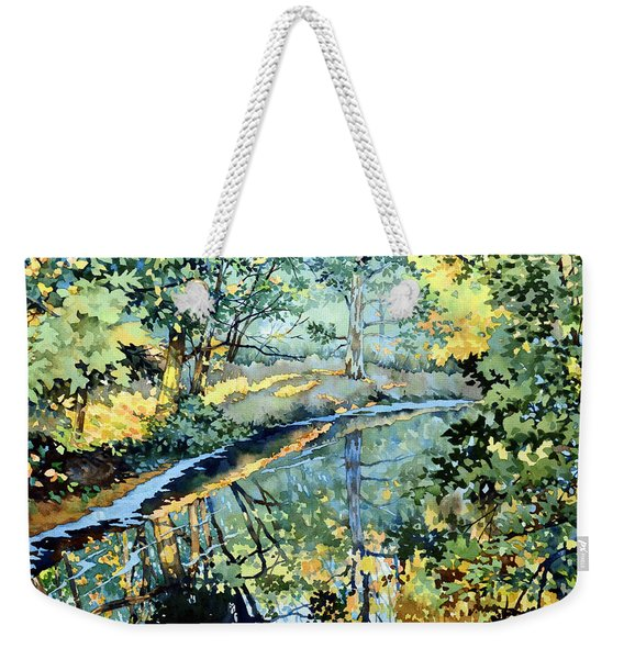 Quiet Stream Near Milk House Weekender Tote Bag
