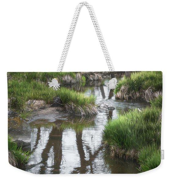 Quiet Stream Weekender Tote Bag