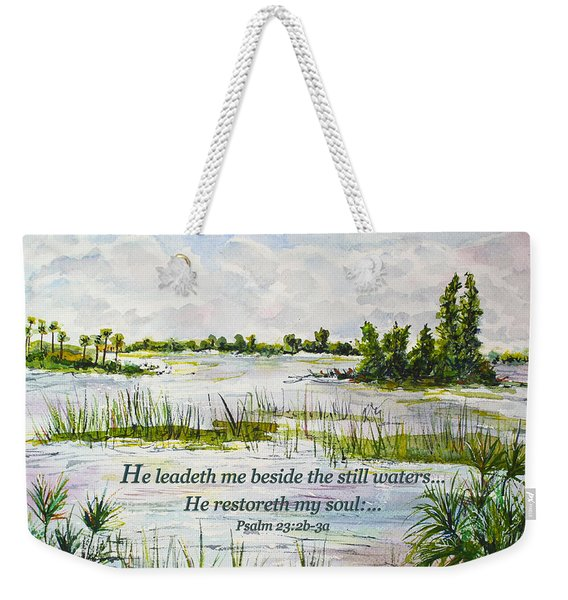 Quiet Waters Psalm 23 Weekender Tote Bag