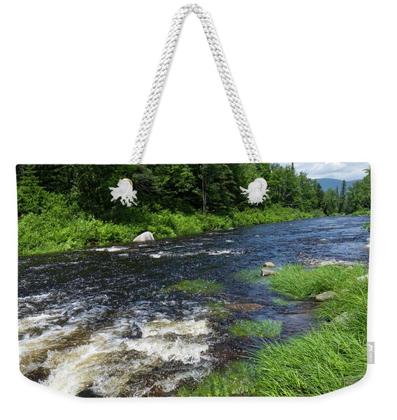 Weekender Tote Bag featuring the photograph Quill Pond Brook Near Rangeley Maine  -70748 by John Bald