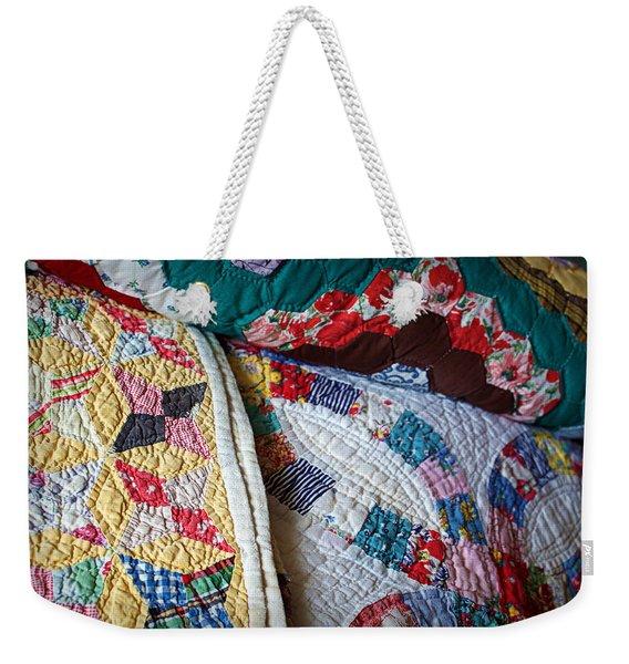 Quilted Comfort Weekender Tote Bag