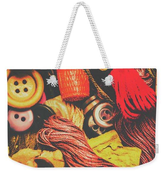 Quilting In Crochet Weekender Tote Bag
