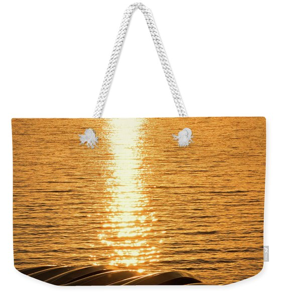 Weekender Tote Bag featuring the photograph Quinault Sunset Retake by Michael Hope
