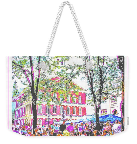 Quincy Market, Boston Massachusetts, Poster Image Weekender Tote Bag