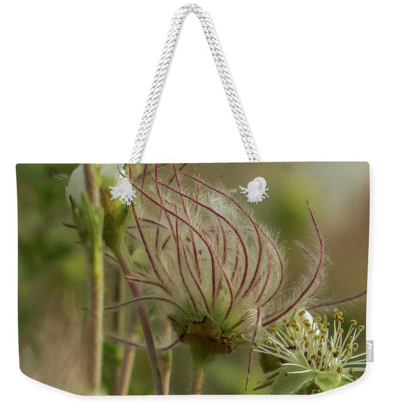 Quirky Red Squiggly Flower 2 Weekender Tote Bag