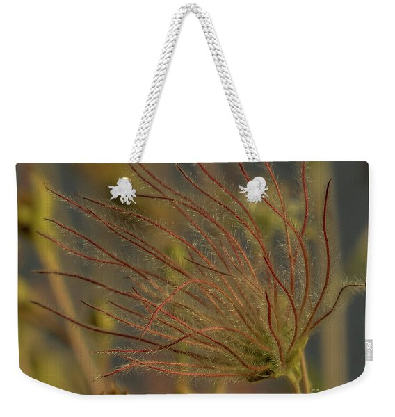 Quirky Red Squiggly Flower 4 Weekender Tote Bag