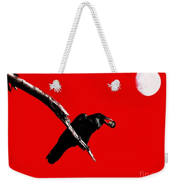 Quoth The Raven Nevermore . Red Weekender Tote Bag