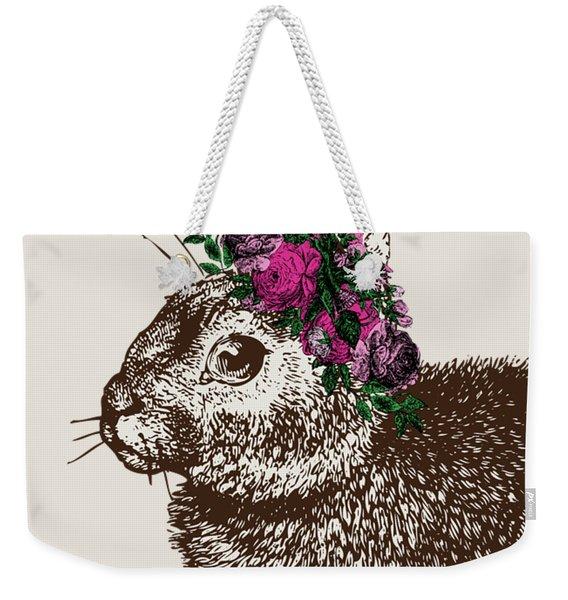 Rabbit And Roses Weekender Tote Bag