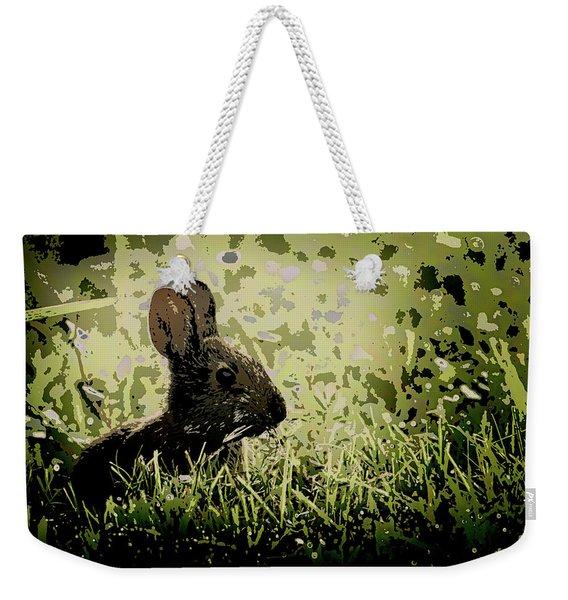 Rabbit In Meadow Weekender Tote Bag