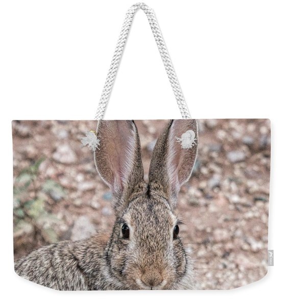 Rabbit Stare Weekender Tote Bag