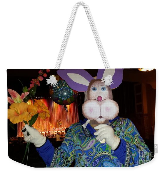 Rabbit With Bouquet Weekender Tote Bag