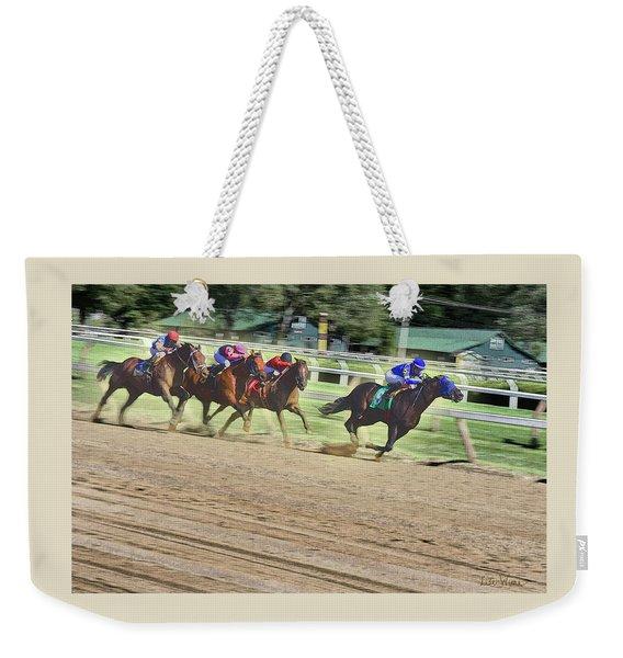 Race Horses In Motion Weekender Tote Bag