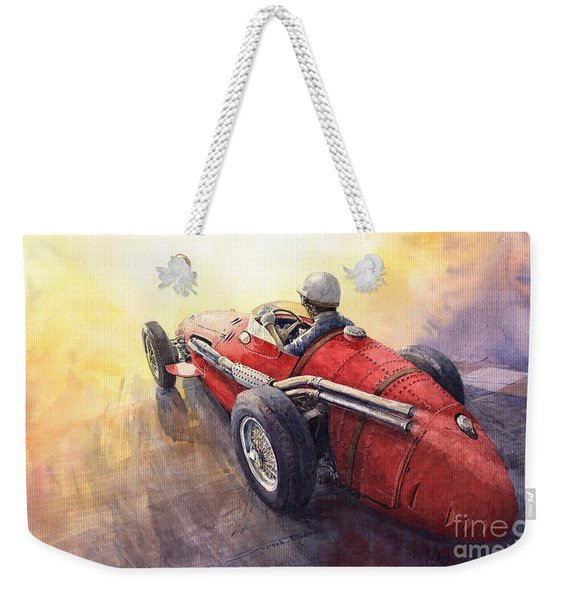 Racing Light Maserati 250 F Weekender Tote Bag