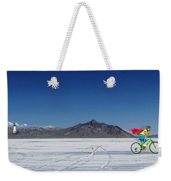 Racing On The Bonneville Salt Flats Weekender Tote Bag