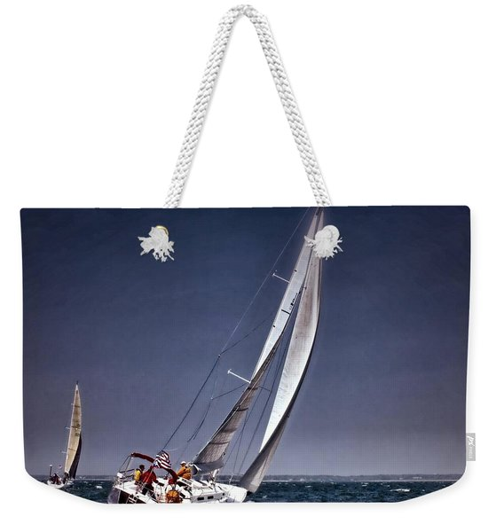 Racing To Nantucket Weekender Tote Bag