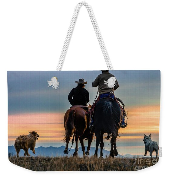 Racing To The Sun Wild West Photography Art By Kaylyn Franks Weekender Tote Bag