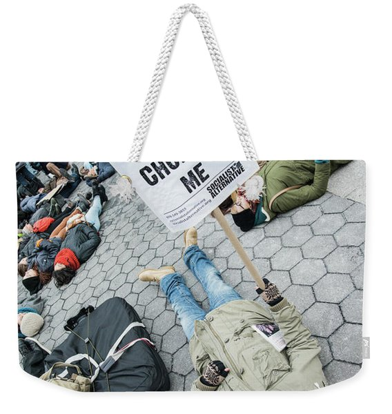 Racism Is Choking Me Weekender Tote Bag