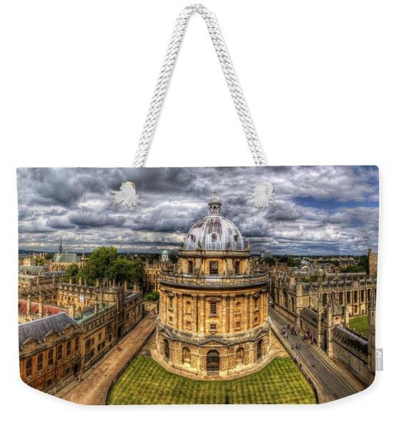 Radcliffe Camera Panorama Weekender Tote Bag