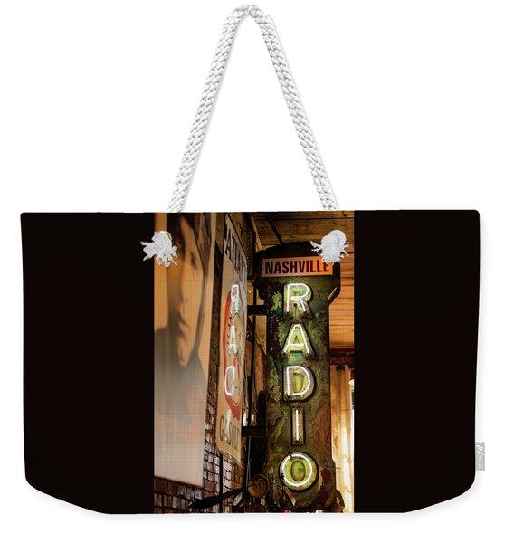 Radio Nashville Sign Weekender Tote Bag