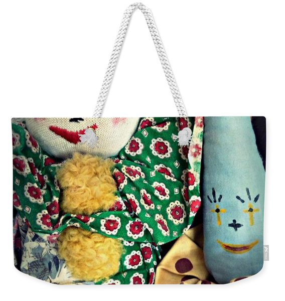Weekender Tote Bag featuring the photograph Ragdoll Buddies by Patricia Strand