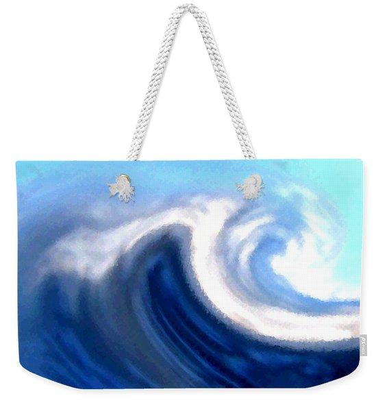 Raging Sea Weekender Tote Bag