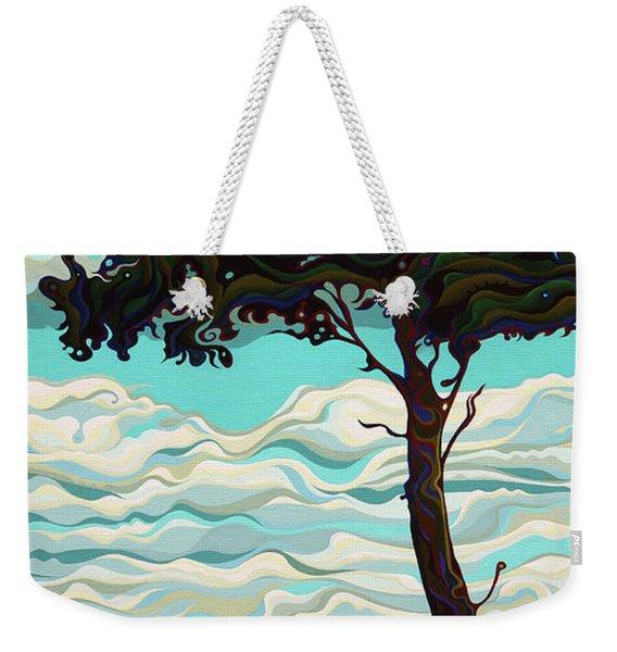Raging Sky Po-e-tree Weekender Tote Bag