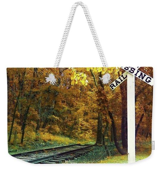Rail Road Crossing To Neverland Weekender Tote Bag