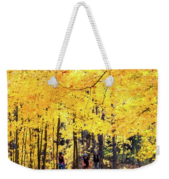 Autumn Glory On The Rail Trail Weekender Tote Bag