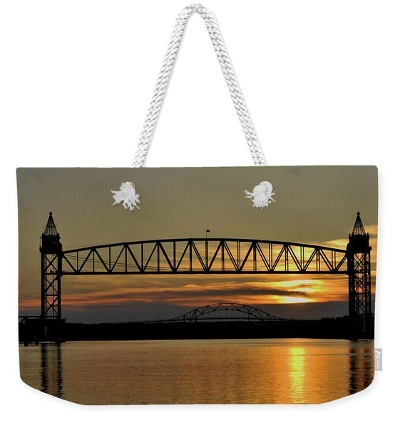 Railroad Bridge Over The Canal Weekender Tote Bag