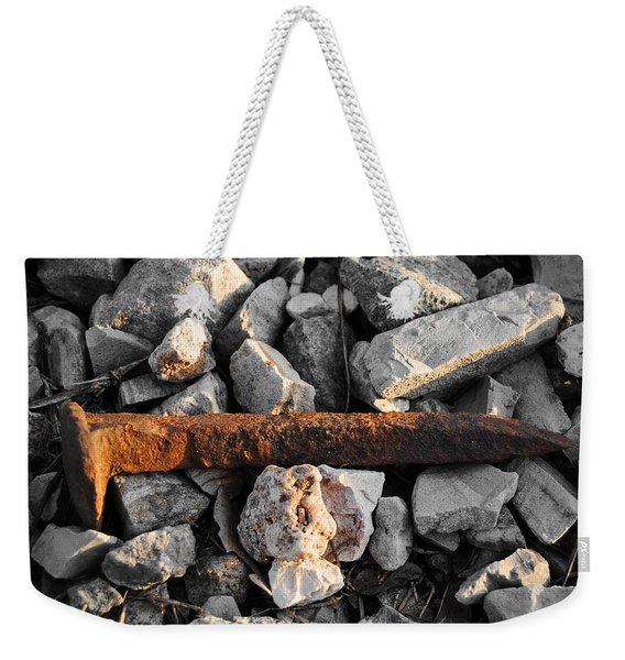 Railroad Spike Weekender Tote Bag