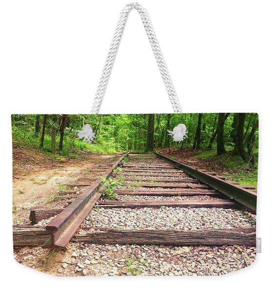 Railroad Tracks To Neverland Weekender Tote Bag