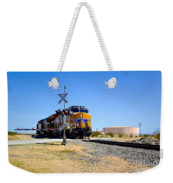 Railway Crossing Weekender Tote Bag