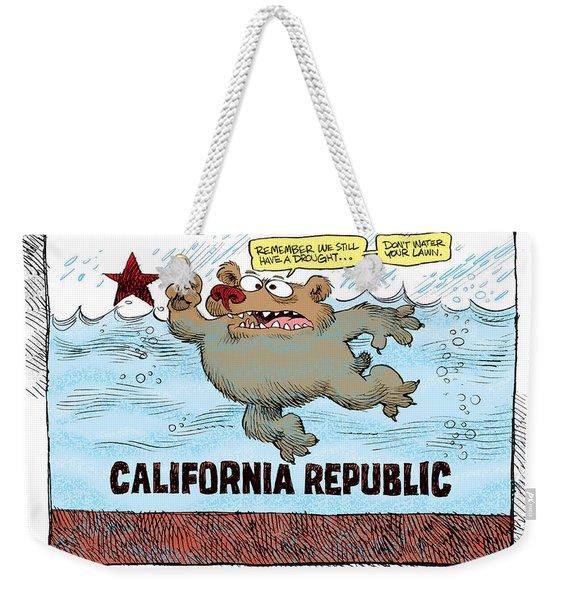 Rain And Drought In California Weekender Tote Bag