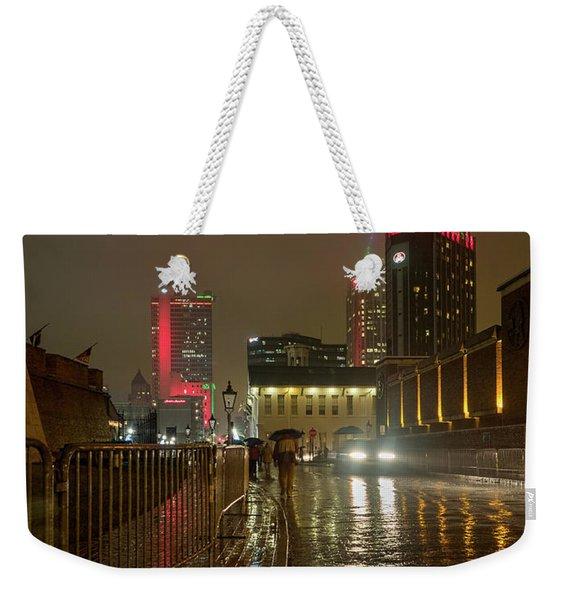 Rain And Fog In Mobile Weekender Tote Bag