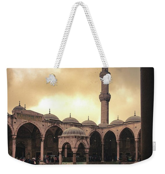 Rain At The Blue Mosque Weekender Tote Bag