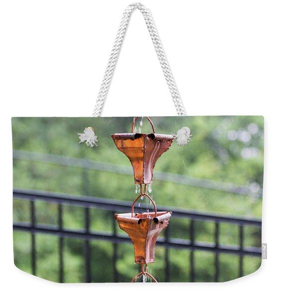 Rain Chains Weekender Tote Bag