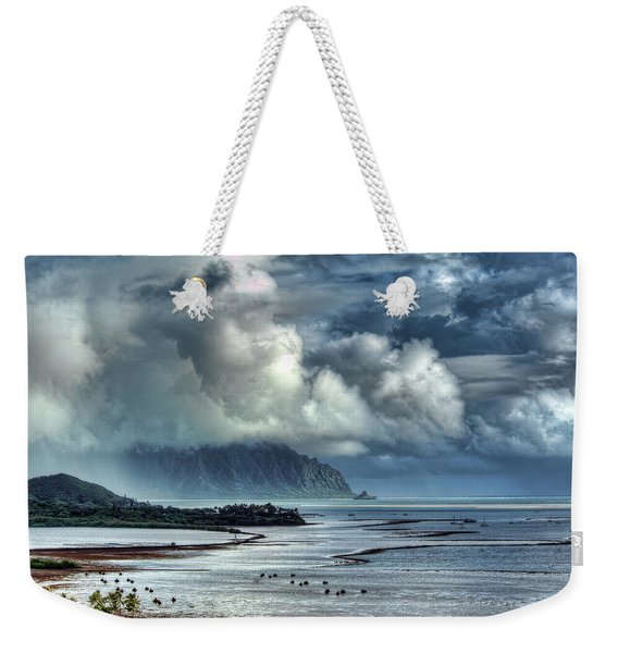 Rain Clearing Kaneohe Bay Weekender Tote Bag