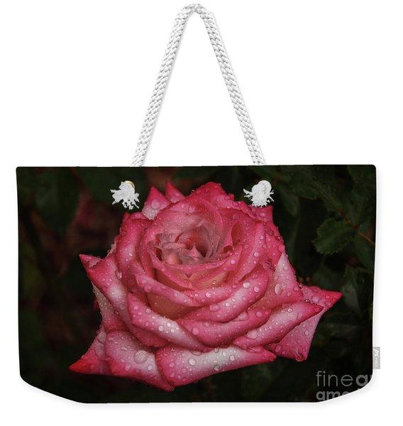Rain Drop Rose Weekender Tote Bag
