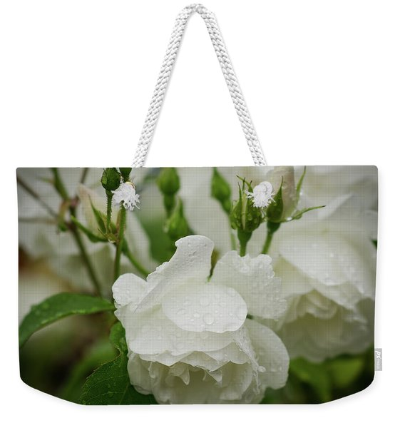 Rain Drops In Our Garden Weekender Tote Bag