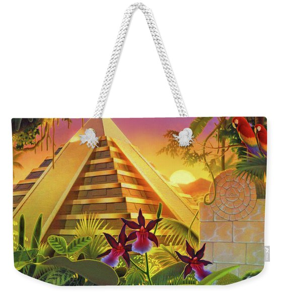 Rain Forest Pyramid  Weekender Tote Bag