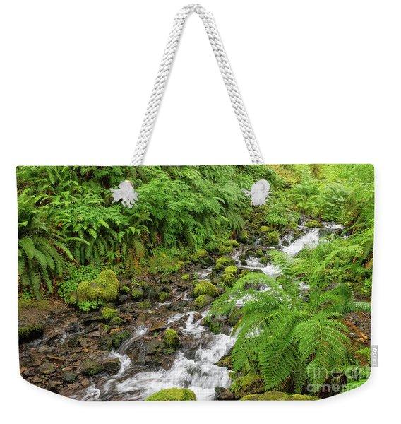 Rain Forest Waterfall Weekender Tote Bag