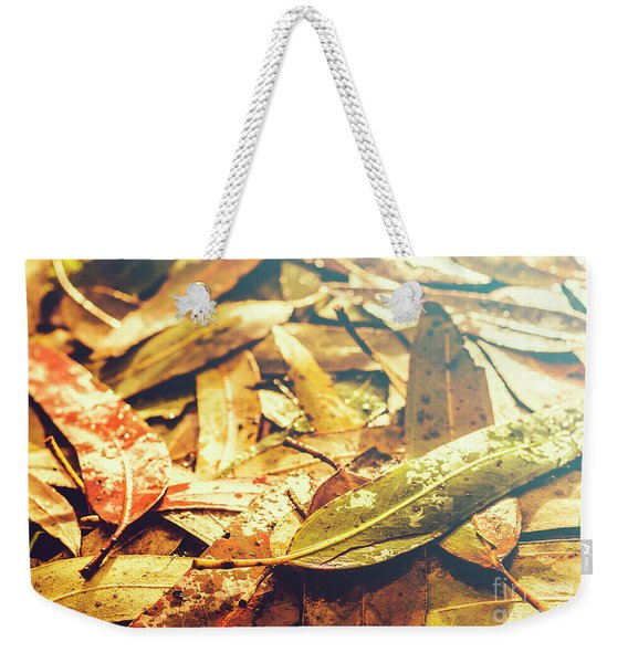 Rain In Fall Weekender Tote Bag