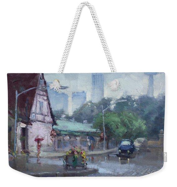 Rain In Old Falls Street Weekender Tote Bag
