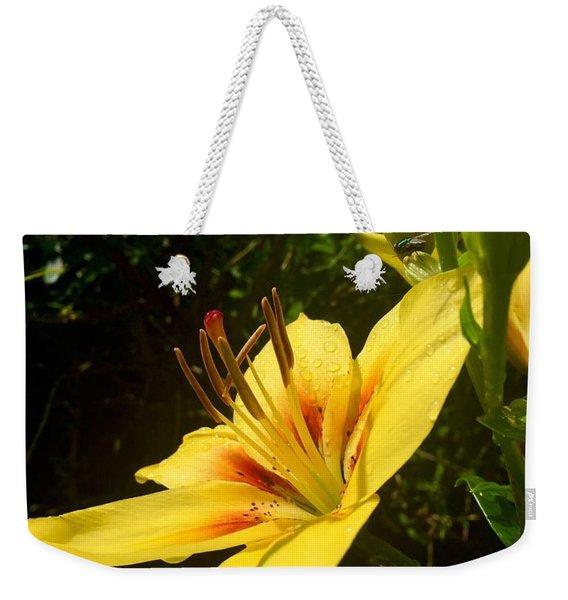 Rain Kissed Tiger Lily Weekender Tote Bag