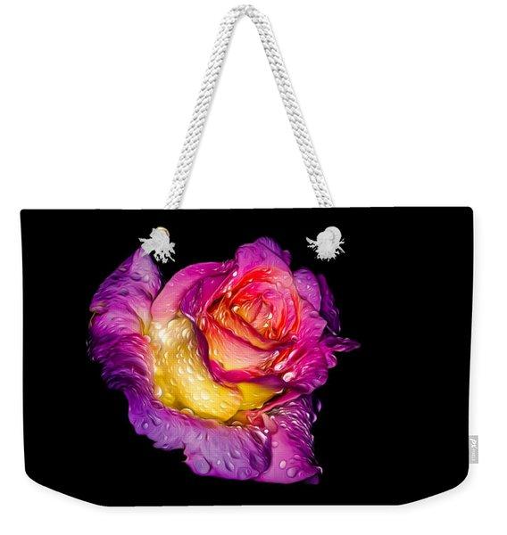 Rain-melted Rose Weekender Tote Bag