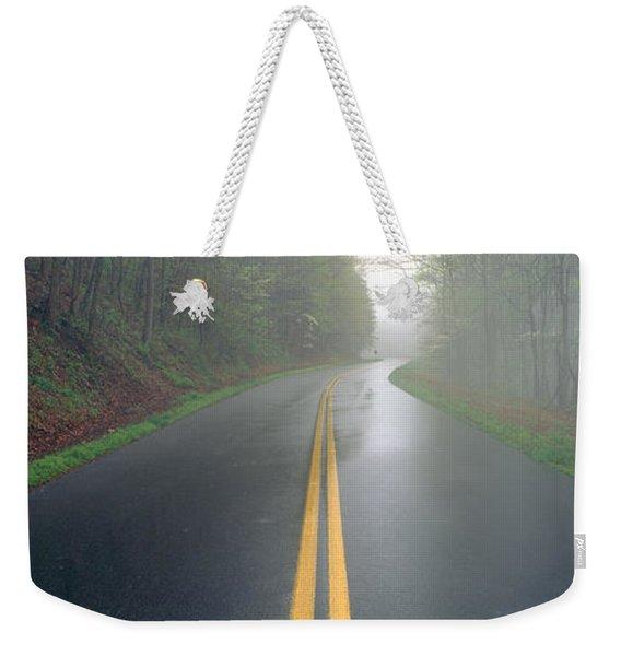Rain On Foothill Parkway, Great Smokey Weekender Tote Bag