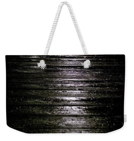 Rain On Wooden Pier Weekender Tote Bag