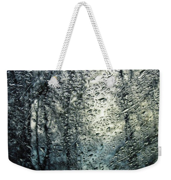 Rain - Water Droplets On The Window Weekender Tote Bag