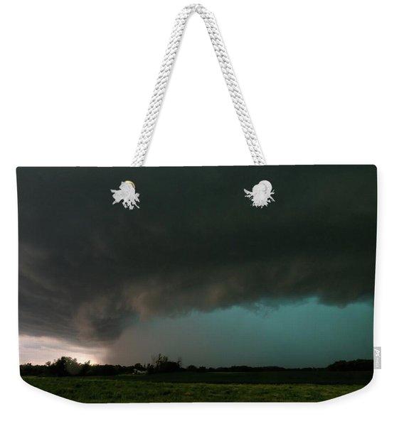 Rain-wrapped Tornado Weekender Tote Bag